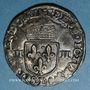 Monnaies Henri IV (1589-1610). 1/4 d'écu, 2e type, 1601 L et ancre. Bayonne