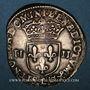 Monnaies Henri IV (1589-1610). 1/4 d'écu, 2e type, 1605 L. Bayonne