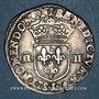 Monnaies Henri IV (1589-1610). 1/4 d'écu, 2e type, 1606 L et ancre. Bayonne