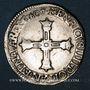 Monnaies Henri IV (1589-1610). 1/4 d'écu, 5e type, 1607 C. Saint Lô (C pointé). Variante inédite !