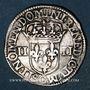 Monnaies Henri IV (1589-1610). 1/4 d'écu, 5e type, 1607C. Saint Lô (C pointé). Variante inédite !