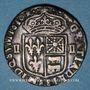 Monnaies Henri IV (1589-1610). 1/4 d'écu de Béarn 1610. Pau