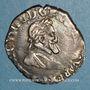 Monnaies Henri IV (1589-1610). 1/4 de franc. 1594 D et point 12e . Lyon