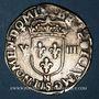 Monnaies Henri IV (1589-1610). 1/8 d'écu, 2e type, 1604 N. Montpellier