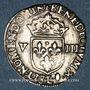 Monnaies Henri IV (1589-1610). 1/8 d'écu, 2e type, 1606 L et ancre. Bayonne