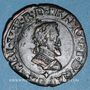 Monnaies Henri IV (1589-1610). Double tournois, 1er type, 1594. Clermont-en-Auvergne
