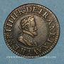 Monnaies Henri IV (1589-1610). Double tournois, 1er type, 1606 A