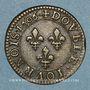 Monnaies Henri IV (1589-1610). Double tournois, 1er type, 1606A