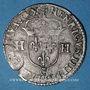 Monnaies Henri IV (1589-1610). Douzain, 2e type, (date illisible) C. Saint-Lô
