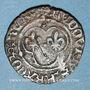 Monnaies Louis XI (1461-1483). Denier tournois, 1ère émission (31 décembre 1461). Rouen (point 15e)