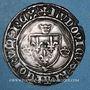 Monnaies Louis XI (1461-1483). Monnayage du duc de Bourgogne. Blanc à la couronne. Variété inédite !