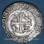 Monnaies Louis XII (1498-1514). Blanc de Provence, 3e type. Aix-en-Provence (P et point 9e à l'avers)
