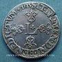 Monnaies Louis XIII (1610-1643). 1/2 franc, grosse tête laurée au col fraisé, 1615 C. Saint Lô