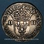 Monnaies Louis XIII (1610-1643). 1/4 d'écu, 1er type, 1643 G. Poitiers