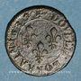 Monnaies Louis XIII (1610-1643). Double lorrain, 4e type, 1637. Stenay