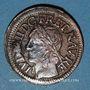 Monnaies Louis XIII (1610-1643). Double tournois, 15e type de Warin, 1642 H. La Rochelle
