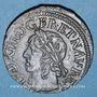 Monnaies Louis XIII (1610-1643). Double tournois, 15e type de Warin, 1643 H. La Rochelle