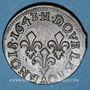 Monnaies Louis XIII (1610-1643). Double tournois, 15e type de Warin, 1643H. La Rochelle