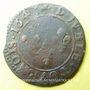 Monnaies Louis XIII (1610-1643). Double tournois 164(3). Corbeil