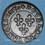 Monnaies Louis XIII (1610-1643). Double tournois au buste enfantin et col plat 1617 R. Villeneuve-Saint-André
