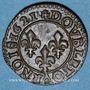 Monnaies Louis XIII (1610-1643). Double tournois au buste enfantin et col plat 1621 A