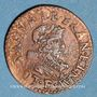 Monnaies Louis XIII (1610-1643). Double tournois au buste juvénile et col fraisé 1631E. Tours