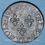 Monnaies Louis XIII (1610-1643). Double tournois au buste juvénile et col fraisé 1632 E. Tours