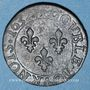 Monnaies Louis XIII (1610-1643). Double tournois au buste juvénile et col fraisé 1632E. Tours