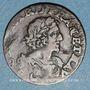 Monnaies Louis XIII (1610-1643). Double tournois, au buste lauré et drapé 1640. Croissant. Vienne