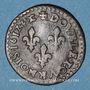 Monnaies Louis XIII (1610-1643). Double tournois, buste enfantin au col fraisé 1612 &. Aix