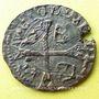 Monnaies Louis XIII (1610-1643). Douzain illégal émis par les Huguenots 1628 refrappé /douzain de 1562