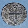 Monnaies Louis XIII (1610-1643). Douzain illégal émis par les Huguenots 163(...) /double tournois 1630D (Lyon