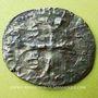 Monnaies Louis XIII (1610-1643). Douzain illégal émis par les Huguenots et refrappé  sur une ancienne monnaie
