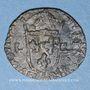 Monnaies Louis XIII (1610-1643). Douzain illégal émis par les Huguenots. Refrappé sur un double tournois