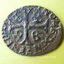 Monnaies Louis XIII (1610-1643). Douzain illégal émis par les Huguenots refrappé /un ancien douzain de 1628