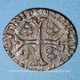 Monnaies Louis XIII (1610-1643). Douzain illégal émis par les Huguenots surfrappé /une ancienne monnaie