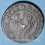 Monnaies Louis XIII (1610-1643). Piéfort du double tournois, 10e type, au buste lauré et drapé 1638. Lay