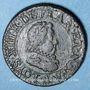 Monnaies Louis XIII (1610-1643). Piéfort du double tournois, 1er type, au buste enfantin 1618 A
