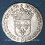 Monnaies Louis XIV (1643-1715). 1/12 d'écu à la mèche longue 1658 D. Lyon