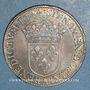 Monnaies Louis XIV (1643-1715). 1/2 écu à la mèche courte 1644 A. Point