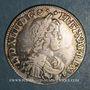 Monnaies Louis XIV (1643-1715). 1/2 écu à la mèche courte 1650 D (5/4). Lyon