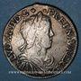 Monnaies Louis XIV (1643-1715). 1/2 écu à la mèche longue 1648 C. Saint-Lô