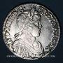 Monnaies Louis XIV (1643-1715). 1/2 écu à la mèche longue 1649 &. Aix