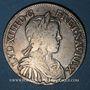 Monnaies Louis XIV (1643-1715). 1/2 écu à la mèche longue 1650 B. Rouen