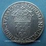 Monnaies Louis XIV (1643-1715). 1/2 écu à la mèche longue 1650 L. Bayonne