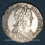 Monnaies Louis XIV (1643-1715). 1/2 écu à la mèche longue 1650 Q. Narbonne. Environ 53 304 exemplaires