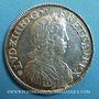 Monnaies Louis XIV (1643-1715). 1/2 écu à la mèche longue 1652 E. Tours