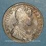 Monnaies Louis XIV (1643-1715). 1/2 écu à la mèche longue 1653 S. Troyes