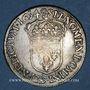 Monnaies Louis XIV (1643-1715). 1/2 écu à la mèche longue 1654. Rennes