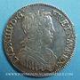 Monnaies Louis XIV (1643-1715). 1/2 écu à la mèche longue 1656 L. Bayonne
